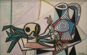 Still Life with Skull Leeks and Pitcher by Picasso