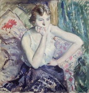 Adolphe Borie: Girl Meditating